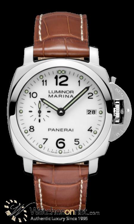 Panerai Luminor Marina  Automatic Men's Watch, Stainless Steel, White Dial, PAM00523