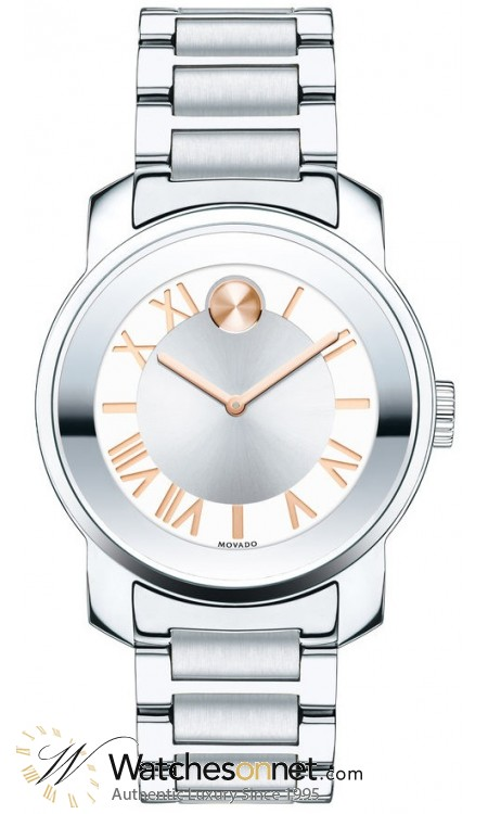 Movado Bold  Quartz Women's Watch, Stainless Steel, Silver Dial, 3600244