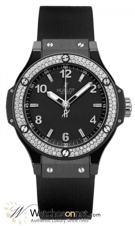 Hublot Big Bang 38mm  Quartz Men's Watch, Ceramic, Black Dial, 361.CV.1270.RX.1104