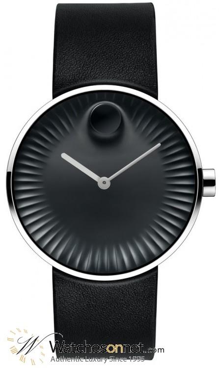 Movado Edge  Quartz Men's Watch, Stainless Steel, Black Dial, 3680002