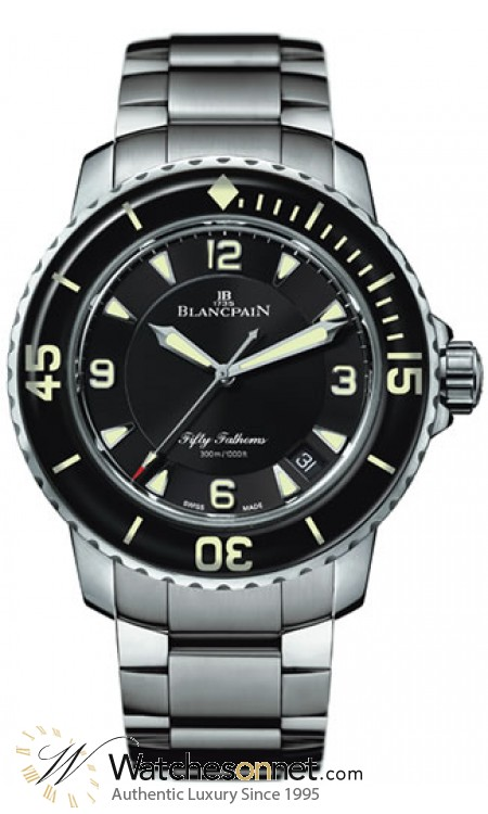 Blancpain Fifty Fathoms  Automatic Men's Watch, Stainless Steel, Black Dial, 5015-1130-71