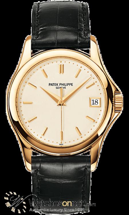 Patek Philippe Calatrava  Automatic Men's Watch, 18K Yellow Gold, Cream Dial, 5127J-001
