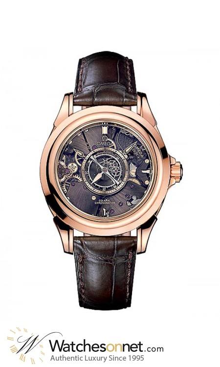 Omega Specialty  Tourbillon Men's Watch, 18K Rose Gold, Grey Dial, 513.53.39.21.99.001