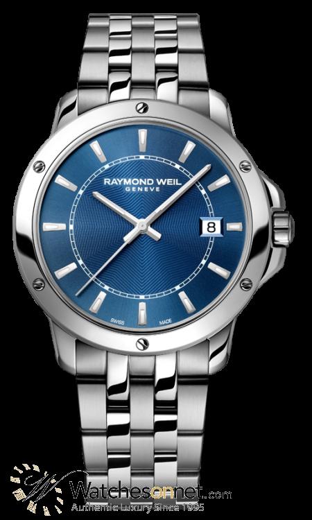 Raymond Weil Tango  Quartz Men's Watch, Stainless Steel, Blue Dial, 5591-ST-50001