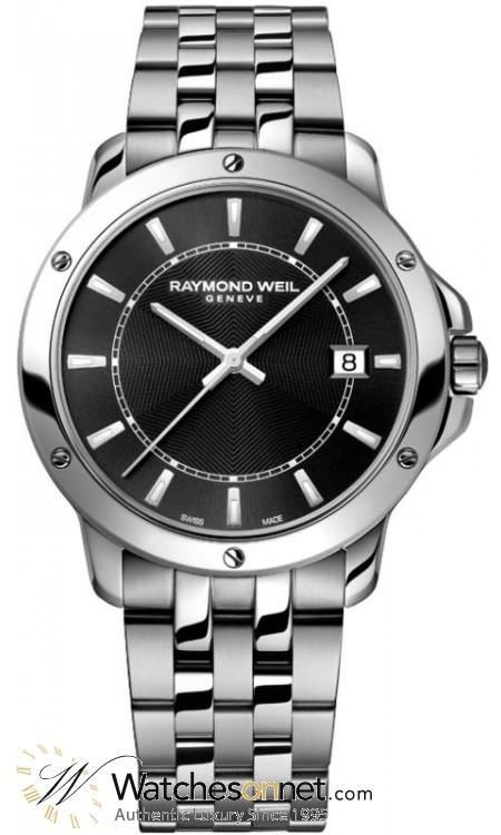 Raymond Weil Tango  Quartz Men's Watch, Stainless Steel, Black Dial, 5599-ST-20001