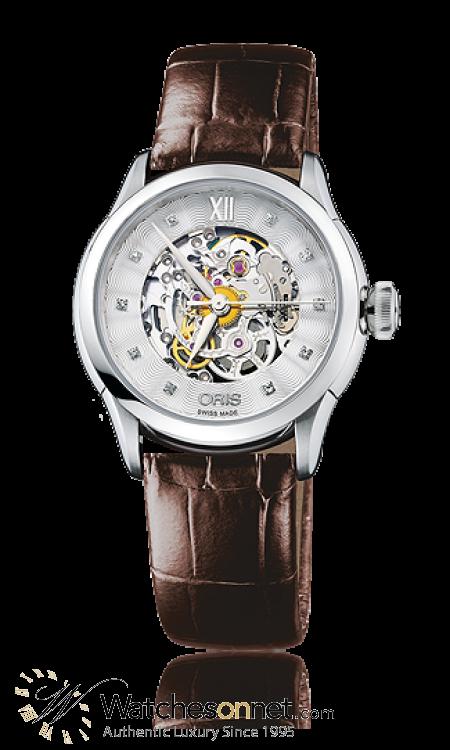 Oris Artelier  Automatic Women's Watch, Stainless Steel, Silver Dial, 560-7604-4019-07-5-16-70FC