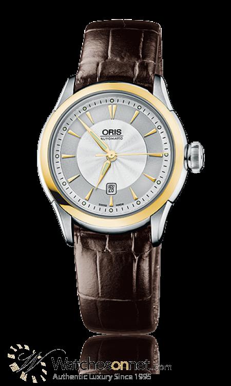 Oris Artelier  Automatic Men's Watch, Stainless Steel, Silver Dial, 561-7604-4351-07-5-16-70FC