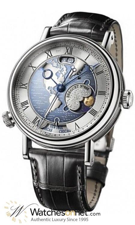 Breguet Classique  Automatic Men's Watch, Platinum, Silver Dial, 5717PT/US/9ZU