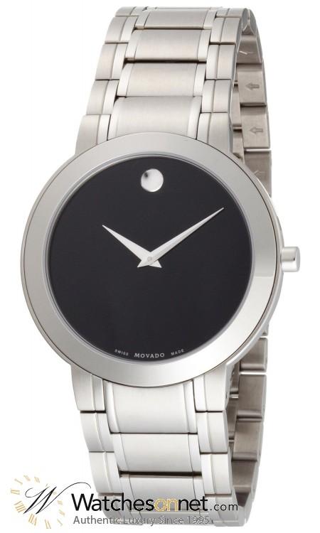 Movado Stiri  Quartz Men's Watch, Stainless Steel, Black Dial, 606191