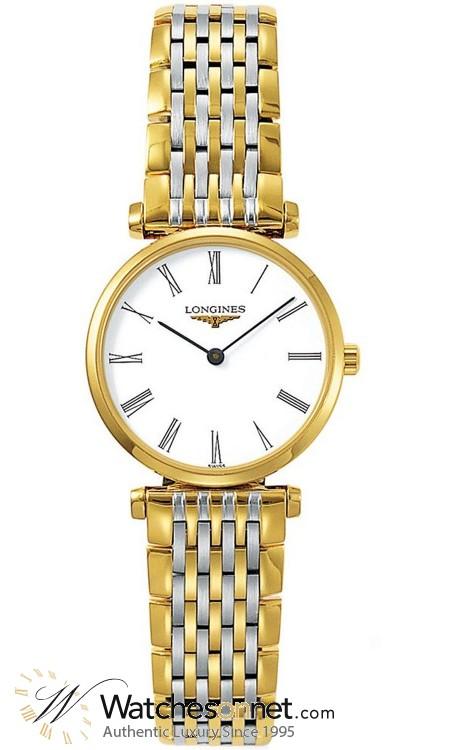 Longines La Grande Classique  Quartz Men's Watch, Steel & 18K Gold Plated, White Dial, L4.755.2.11.7