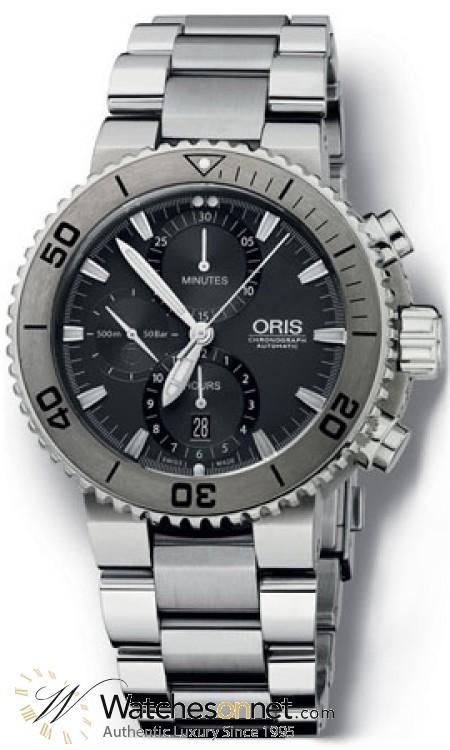Oris Aquis  Automatic Men's Watch, Titanium, White Dial, 674-7655-7253-MB