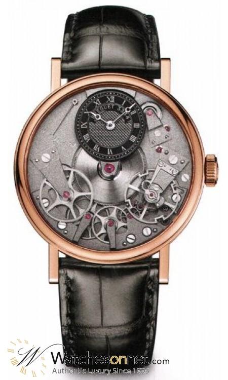 Breguet Tradition  Mechanical Men's Watch, 18K Rose Gold, Skeleton Dial, 7027BR/G9/9V6
