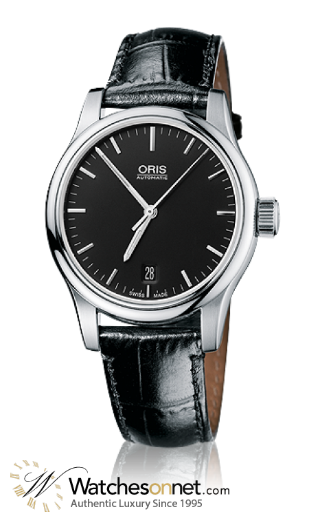 Oris Classic  Automatic Men's Watch, Stainless Steel, Black Dial, 733-7578-4054-07-5-18-11