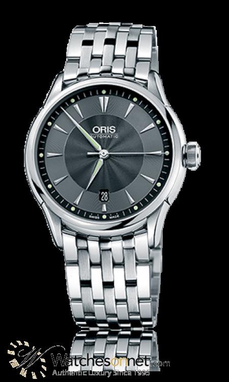 Oris Artelier  Automatic Men's Watch, Stainless Steel, Grey Dial, 733-7591-4054-07-8-21-73