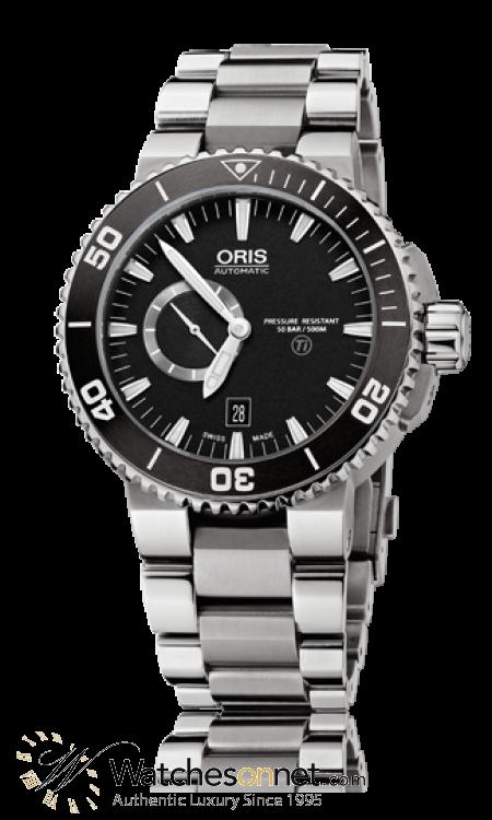 Oris Aquis  Automatic Men's Watch, Titanium, Black Dial, 743-7664-7154-07-8-26-75PEB
