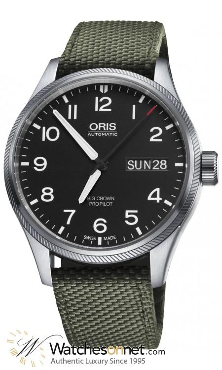 Oris Big Crown  Automatic Men's Watch, Stainless Steel, Black Dial, 752-7698-4164-07-5-22-14FC