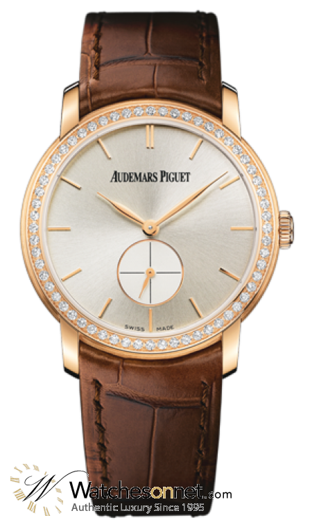 Audemars Piguet Jules Audemars  Mechanical Women's Watch, 18K Rose Gold, Silver Dial, 77239OR.ZZ.A088CR.01