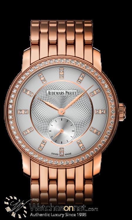 Audemars Piguet Jules Audemars  Mechanical Women's Watch, 18K Rose Gold, Silver Dial, 77251OR.ZZ.1270OR.01