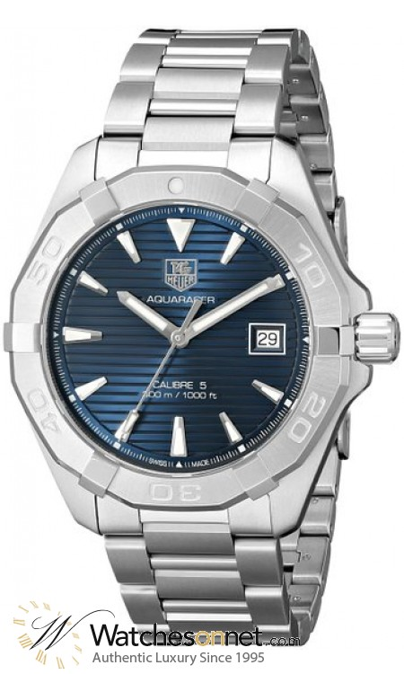 Tag Heuer Aquaracer  Automatic Men's Watch, Stainless Steel, Blue Dial, WAY2112.BA0910