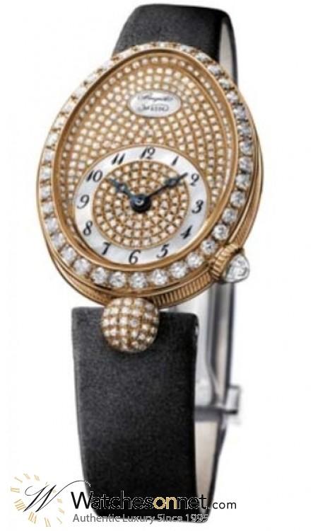 Breguet Reine De Naples  Automatic Women's Watch, 18K Rose Gold, Diamond Pave Dial, 8928BR/8D/844.DD0D