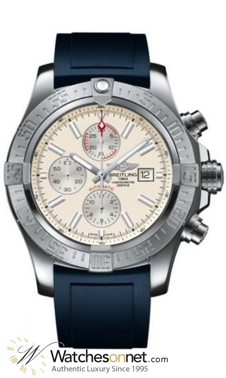 Breitling Super Avenger II  Automatic Men's Watch, Stainless Steel, Silver Dial, A1337111.G779.139S