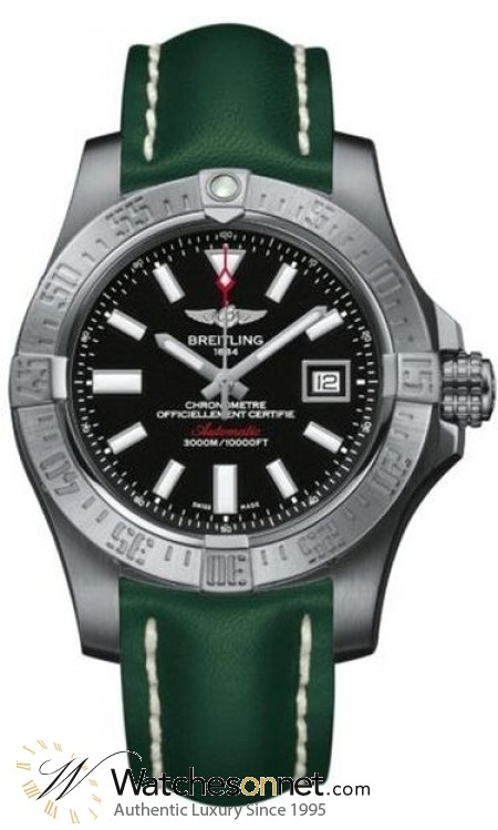 Breitling Avenger II Seawolf  Automatic Men's Watch, Stainless Steel, Black Dial, A1733110.BC30.191X