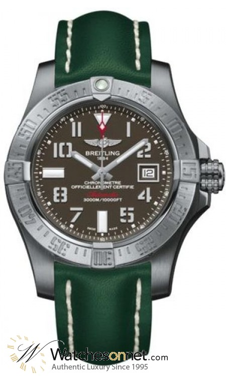 Breitling Avenger II Seawolf  Automatic Men's Watch, Stainless Steel, Gray Dial, A1733110.F563.189X