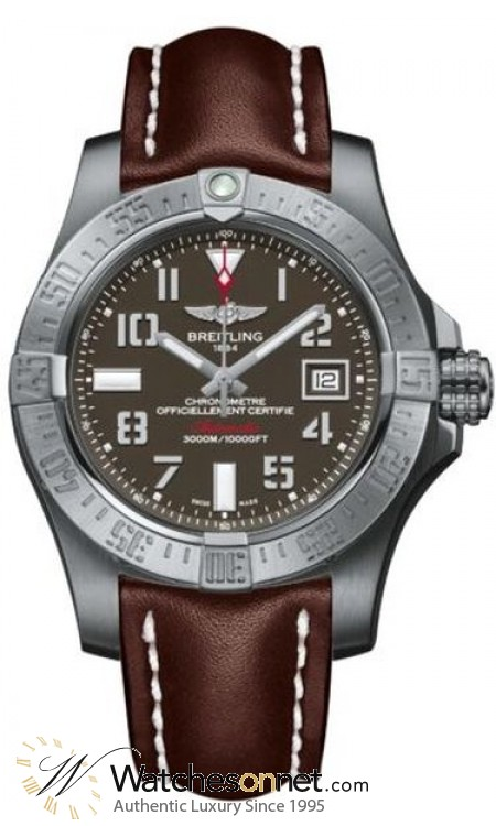 Breitling Avenger II Seawolf  Automatic Men's Watch, Stainless Steel, Gray Dial, A1733110.F563.438X