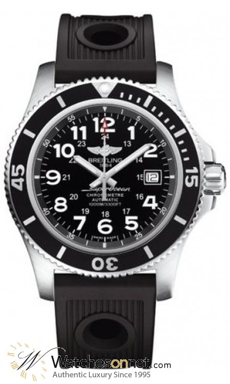 Breitling Superocean II 44  Automatic Men's Watch, Stainless Steel, Black Dial, A17392D7.BD68.200S