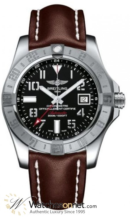 Breitling Avenger II GMT  Automatic Men's Watch, Stainless Steel, Black Dial, A3239011.BC34.437X