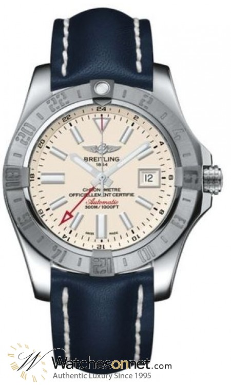 Breitling Avenger II GMT  Automatic Men's Watch, Stainless Steel, Silver Dial, A3239011.G778.112X