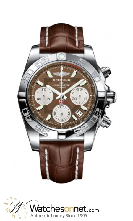 Breitling Chronomat 41  Chronograph Automatic Men's Watch, Stainless Steel, Brown Dial, AB014012.Q583.724P