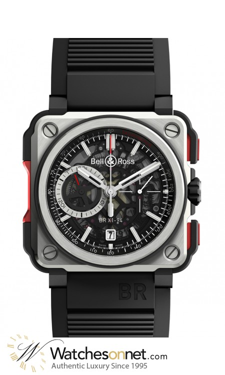 Bell & Ross Aviation BR01  Automatic Men's Watch, Titanium, Black Dial, BRX1-CE-TI-RED