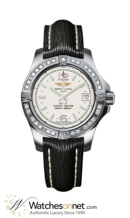 Breitling Colt  Super-Quartz Women's Watch, Stainless Steel, Silver Dial, A7738853.G793.208X