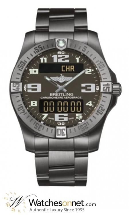 Breitling Aerospace Evo  Chronograph LCD Display Quartz Men's Watch, Titanium, Grey Dial, E7936310.F562.152E