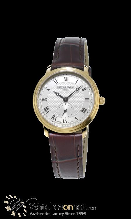 Frederique Constant Slimline  Quartz Women's Watch, 18K Gold Plated, Silver Dial, FC-235M1S5
