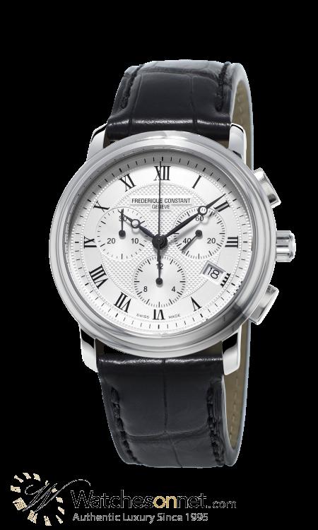 Frederique Constant Classics Chronograph  Chronograph Quartz Men's Watch, Stainless Steel, Silver Dial, FC-292MC4P6