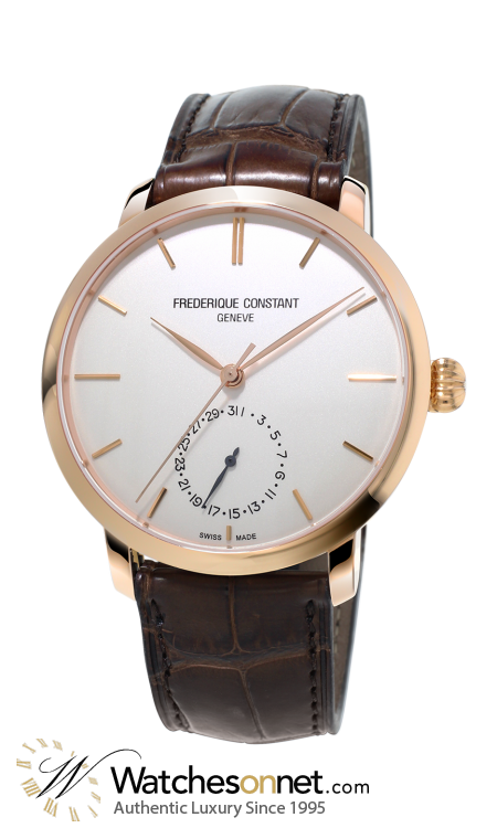 Frederique Constant Slimline  Automatic Men's Watch, 18k Rose Gold Plated, Silver Dial, FC-710V4S4