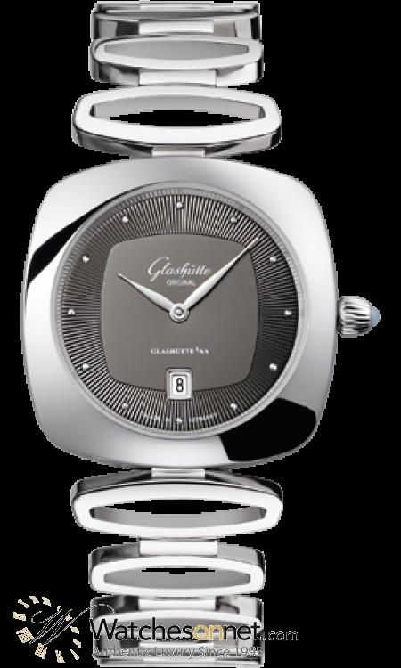 Glashutte Original Pavonina  Quartz Women's Watch, Stainless Steel, Grey Dial, 1-03-01-14-02-14