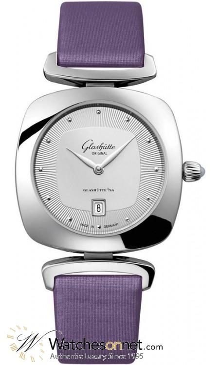 Glashutte Original Pavonina  Quartz Women's Watch, Stainless Steel, Silver Dial, 1-03-01-15-02-04