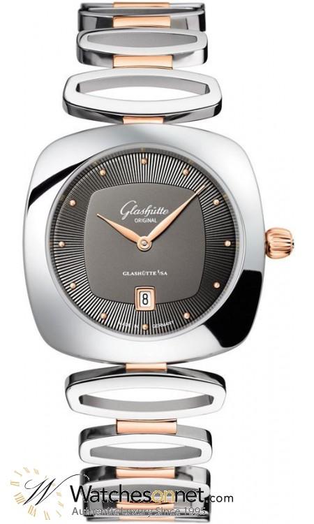 Glashutte Original Pavonina  Quartz Women's Watch, Stainless Steel, Grey Dial, 1-03-01-27-06-14
