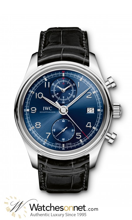 IWC Portuguese  Chronograph Automatic Men's Watch, Stainless Steel, Blue Dial, IW390406