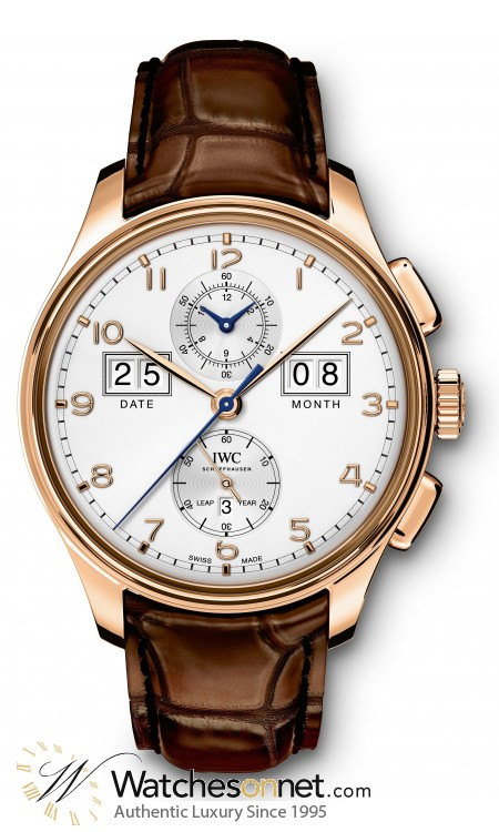 IWC Portuguese  Automatic Men's Watch, 18K Rose Gold, White Dial, IW397203
