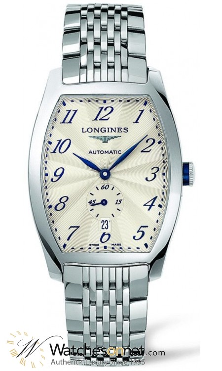 Longines Evidenza  Automatic Men's Watch, Stainless Steel, White Dial, L2.642.4.73.6