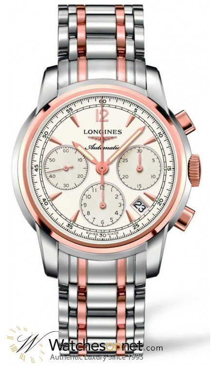 Longines Saint-Limer  Chronograph Automatic Men's Watch, Stainless Steel, Silver Dial, L2.752.5.72.7