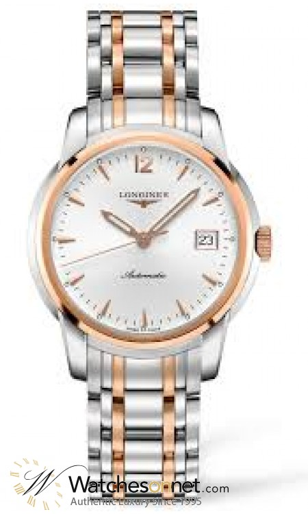 Longines Saint Imier  Automatic Men's Watch, Steel & 18K Rose Gold, Silver Dial, L2.763.5.72.7