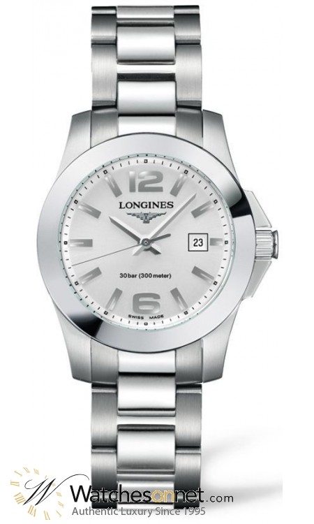 Longines Conquest  Quartz Women's Watch, Stainless Steel, White Dial, L3.277.4.76.6