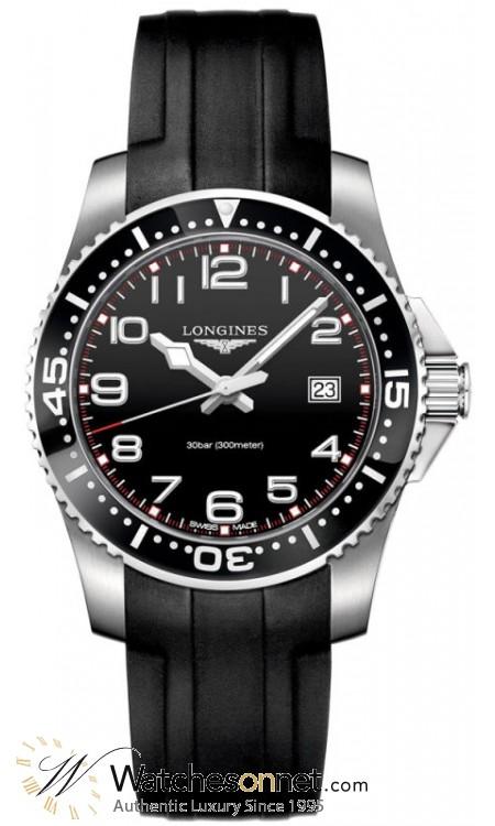 Longines HydroConquest  Quartz Men's Watch, Steel & 18K Rose Gold, Black Dial, L3.688.4.53.2