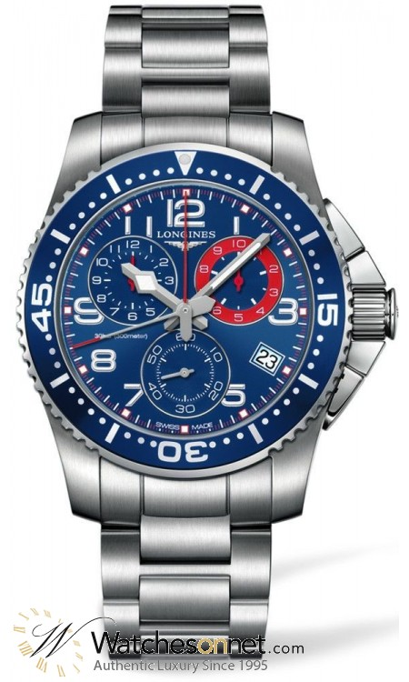 Longines HydroConquest  Chronograph Automatic Men's Watch, Stainless Steel, Blue Dial, L3.690.4.03.6