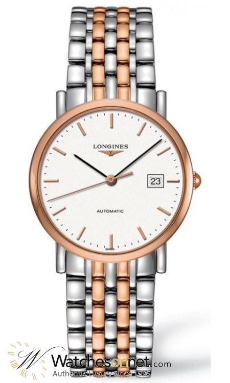 Longines La Grande Classique  Automatic Men's Watch, Steel & 18K Rose Gold, White Dial, L4.809.5.12.7